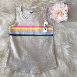 Old Navy Multi-Stripe Graphic Printed Jersey Tank